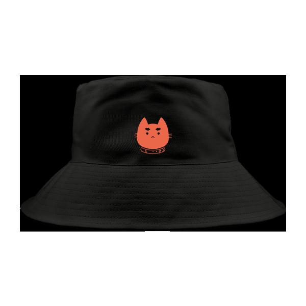 little illy logo-漁夫帽(黑)