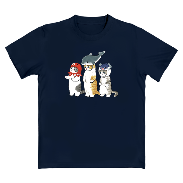 mofusand-印花T恤