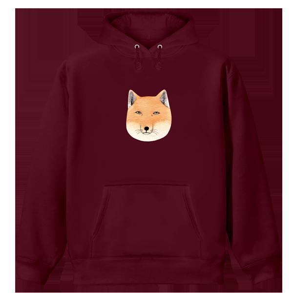 阿加-厭世藏狐-帽T(浣酒紅)